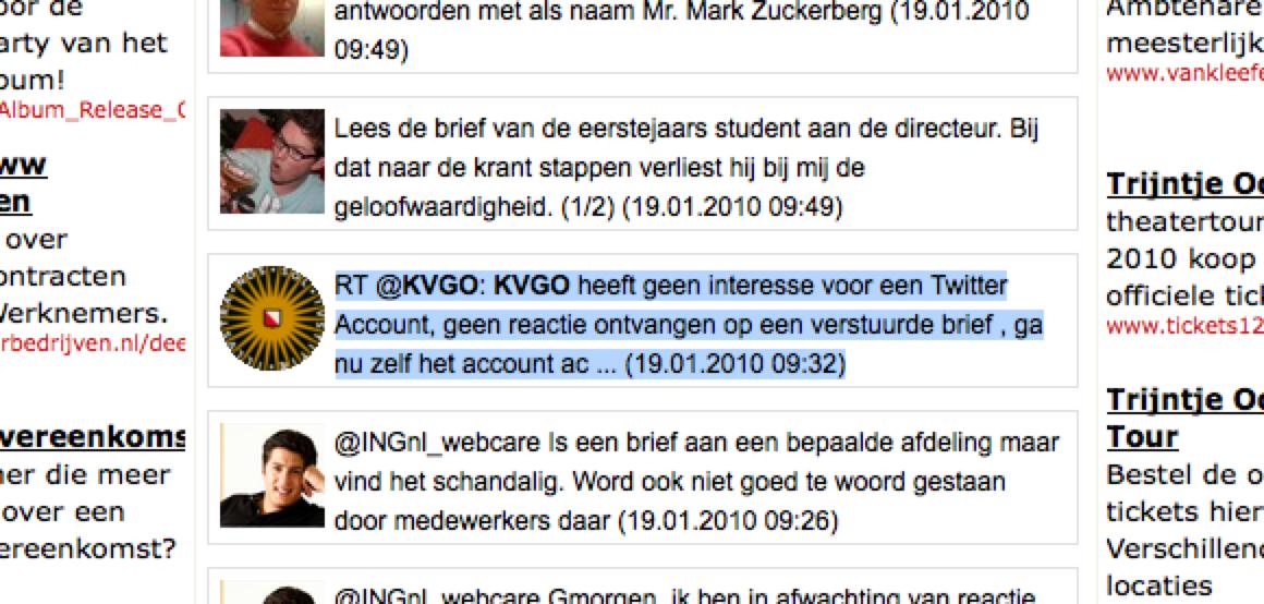 KVGO wil twitternaam terug van accountkaper
