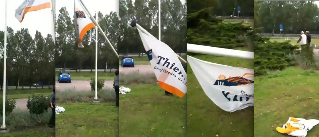 Thieme vlag gestreken