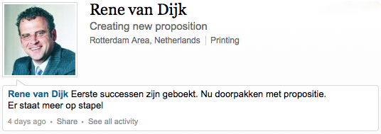 """""""Stirr things up quite a bit in the printing industry in the Benelux"""""""