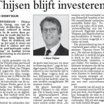 'Financiële herstructurering' TMG