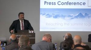 Stefan Hunkeler tijdens de persconferentie bij de start van de Innovationdays