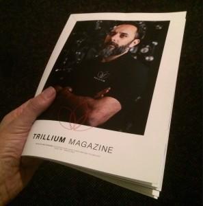 Het 'Trillium Magazine' bevat veel informatie over Trillium en vloeibare toner, maar werd vooralsnog gedrukt op een Xeikon pers.
