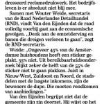 Branchebreed protest tegen Amsterdamse Ja Ja-sticker