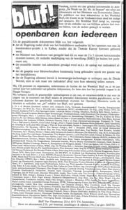 De steunbetuigings-advertentie uit 1986